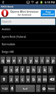 AWIS Phonebook - screenshot thumbnail
