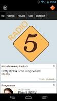 Screenshot of NPO Radio 5