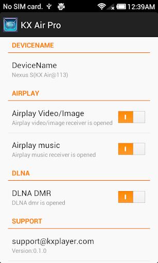 KX Air Pro : Airplay:DLNA