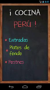 Cocina Perú