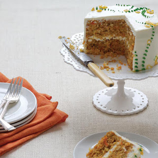 Carrot Cake with Cream Cheese-Lemon Zest Frosting.