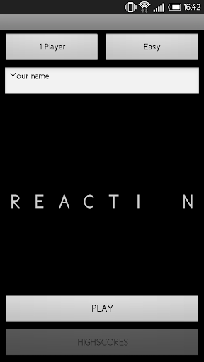 REACTION - 1 or 2 players