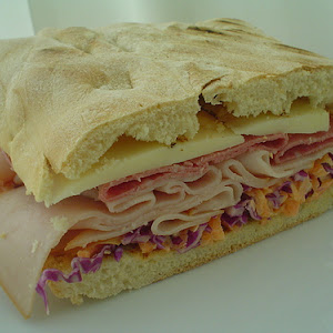 Ciabatta Cold Cut Sandwich with Coleslaw