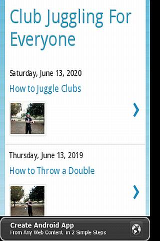 Learn to Juggle Clubs - screenshot