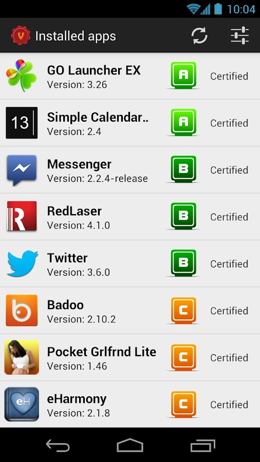 Validroid Beta - screenshot