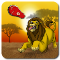 Lion, the king of wild savanna logo