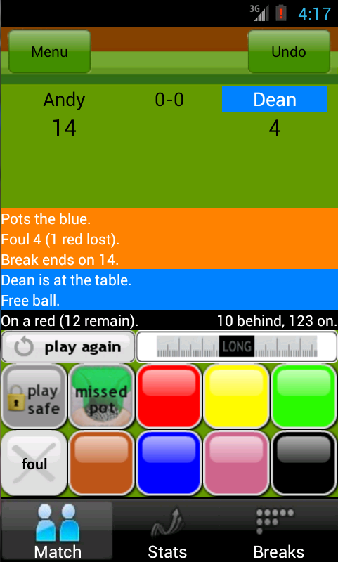 MySnookerStats Snooker Scoring - screenshot
