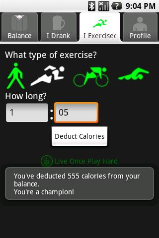 BeerGut Fitness - screenshot