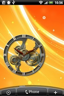 Steampunk Analog Clock Widget- screenshot thumbnail