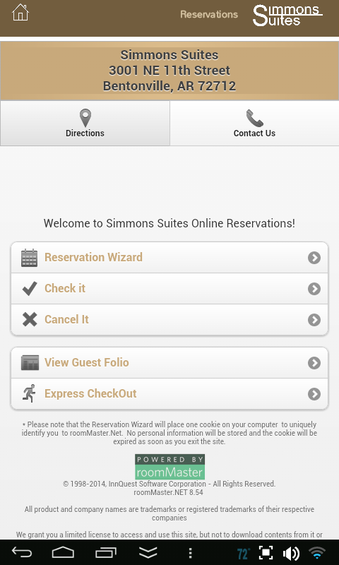 Simmons Suites- screenshot