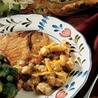 Pork Chops with Stuffing.