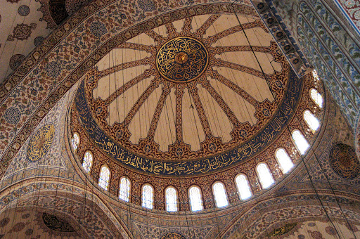 Mosque-of-Hagia-Sophia-Istanbul - A view of the interior cupola of Hagia Sophia, now a museum called Ayasofya Müzesi, in Istanbul, Turkey.