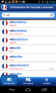 French Larousse dictionary Screenshot