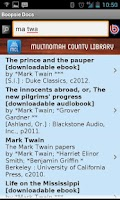 Screenshot of Multnomah County Library