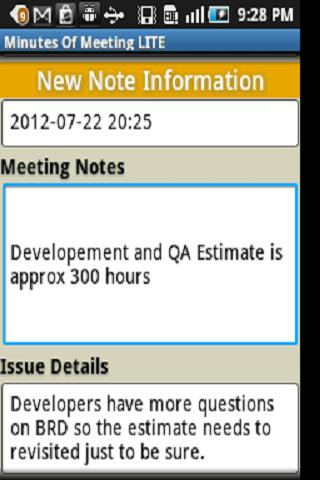 Minutes Of Meeting - screenshot
