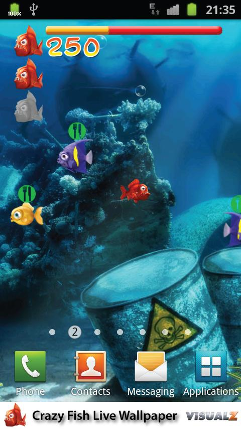 Crazy Fish Live Wallpaper - screenshot