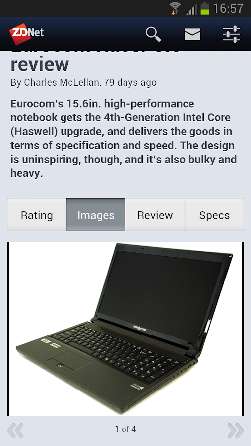 ZDNet Mobile - screenshot