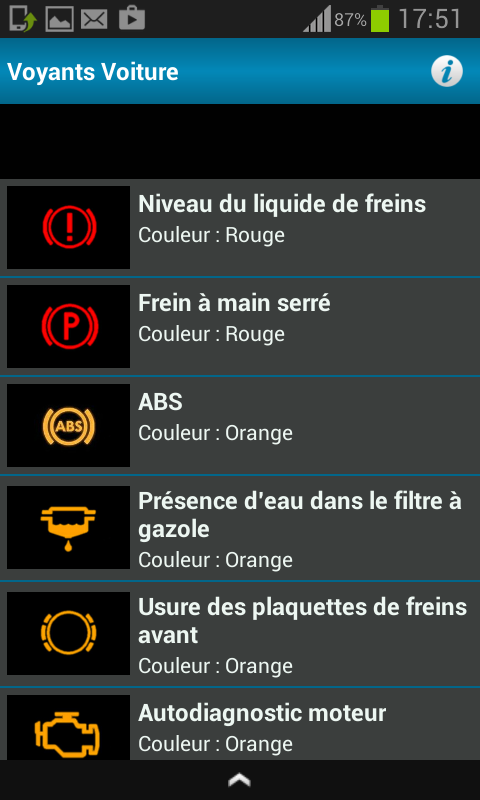 tous les voyants voiture android apps on google play. Black Bedroom Furniture Sets. Home Design Ideas