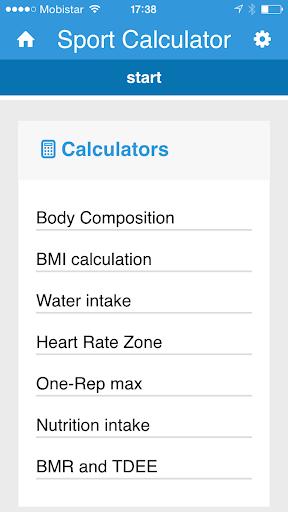 Sport calculator