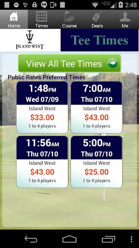 玩運動App|Island West Golf Tee Times免費|APP試玩
