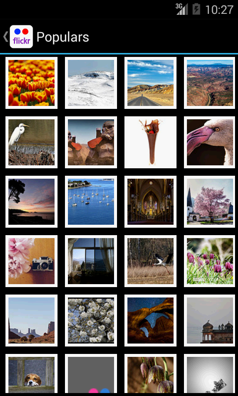 Flickr Explorer (Batch Upload) - screenshot