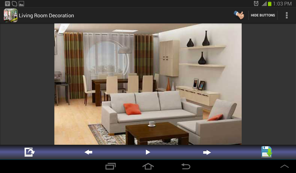 Living room decoration designs android apps on google play for Room design app using photos