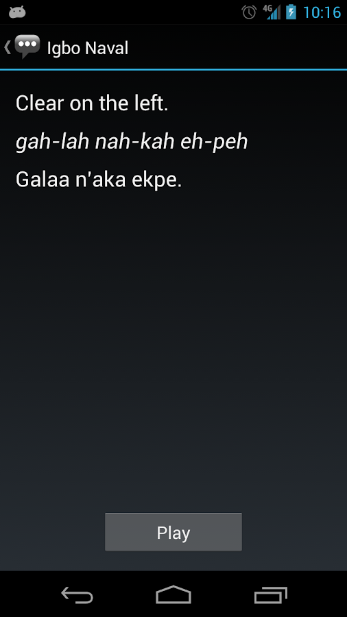 Igbo Naval Phrases - screenshot