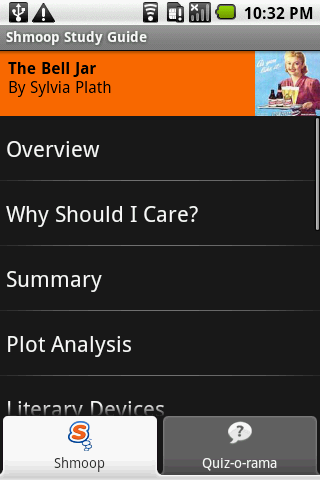 The Bell Jar: Shmoop Guide - screenshot
