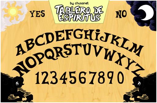 fantasmas tablero de la Ouija