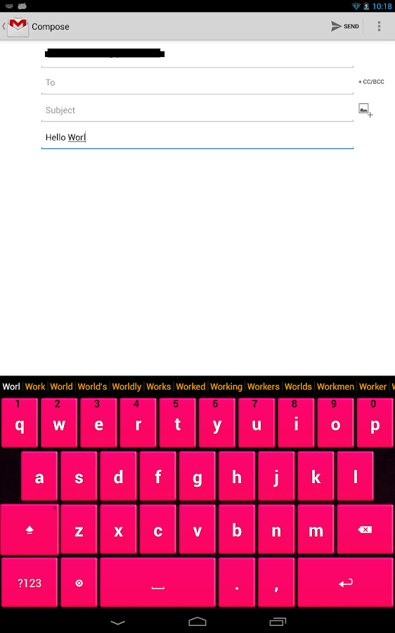 Pink Keyboard - screenshot