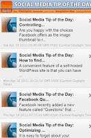 Screenshot of Social Media Resource a Day