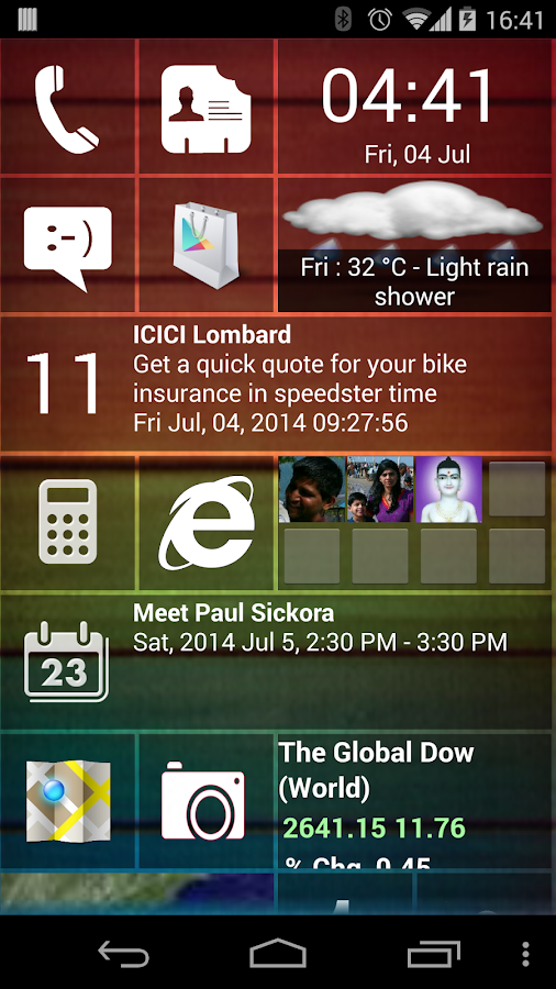 Home 8+ like Windows8 Launcher- screenshot