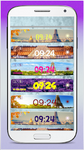 Paris Weather Clock Widget screenshot