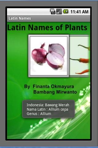 Latin Names of Plants