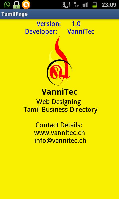 Tamil business Directory - screenshot