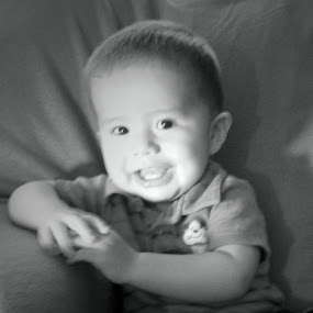 Happy by Dawnadine Yazzie-Harvey - Babies & Children Babies ( love, adorable, son, baby, smile, cute, handsome, laughter, mom )