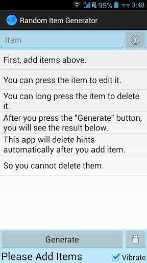 Random Item Generator