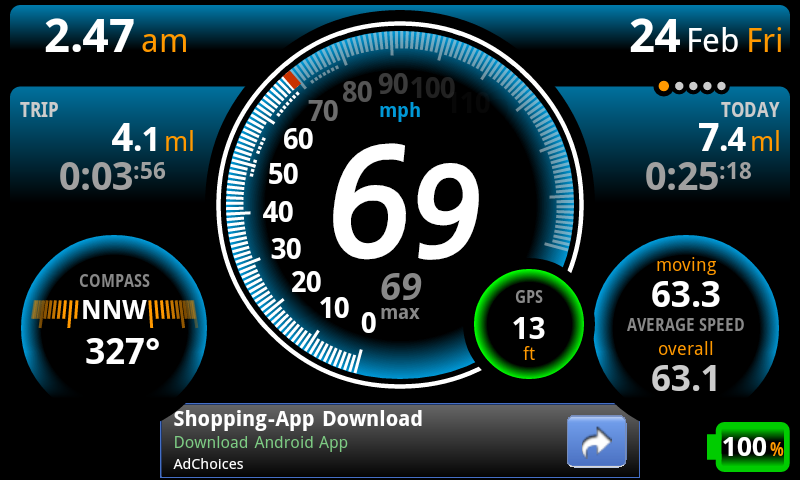 Ulysse Speedometer - screenshot