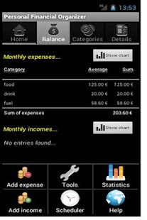 【免費財經App】Personal Financial Organizer-APP點子