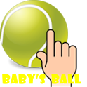 Baby play ball (tennis) -NoAD icon