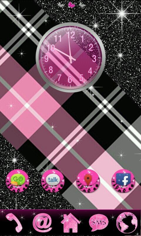 GO Theme Glitter Pink Leopard - screenshot
