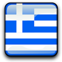 Greece Flag Clock Widget icon