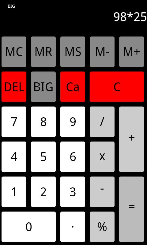 Flat Calculator - screenshot