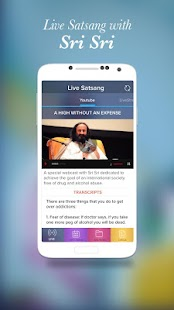 Live Satsang with Sri Sri- screenshot thumbnail