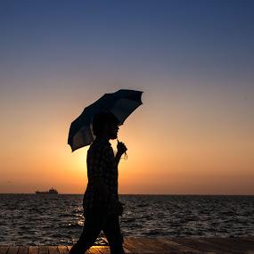 Johnny Walker  by Tasos Triantafyllou - People Street & Candids ( walking, shadow, sea, #people,  )