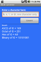 Screenshot of my ASCII Converter