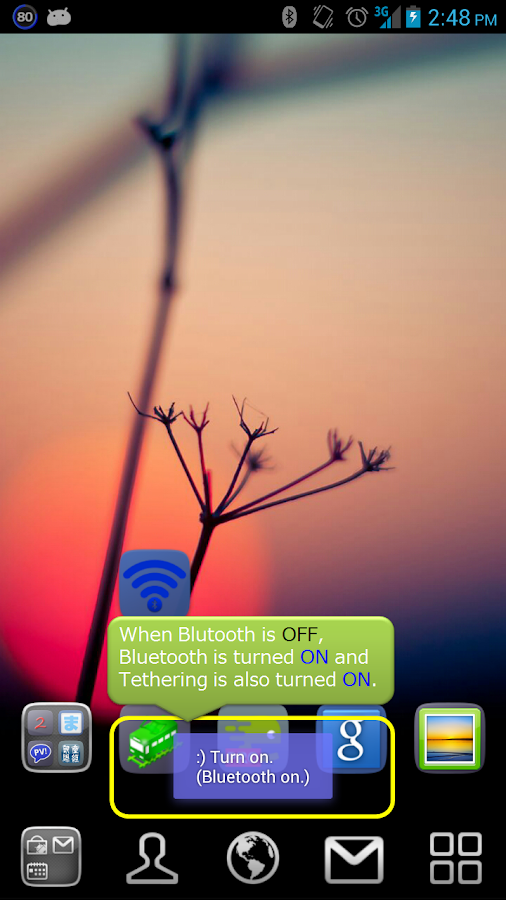 Bluetooth Tethering On Off- screenshot