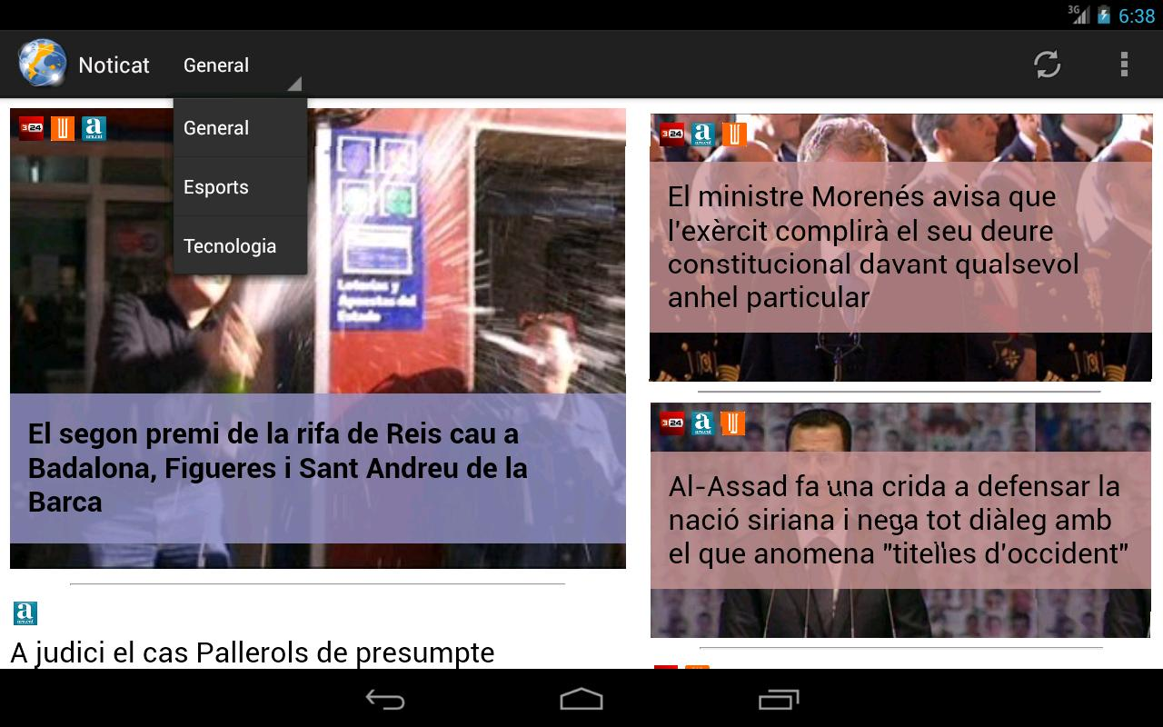 Noticat (prova)- screenshot
