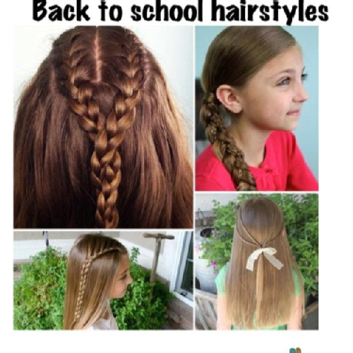 First Day School Hairstyle Back Hairs