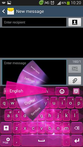 GO键盘粉红色的花式